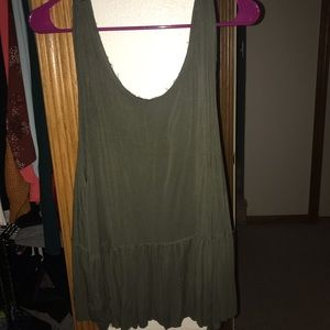 Green frayed Mossimo Tank-XL